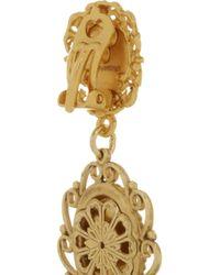 Dolce & Gabbana - Metallic Madonne Gold-Plated Faux Pearl Clip Earrings - Lyst