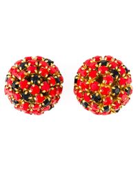 Nina Ricci | Black Crystal Cluster Clip-on Earrings | Lyst