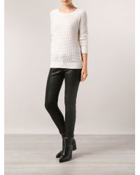 Vince - White Raglan Thermal Sweater - Lyst