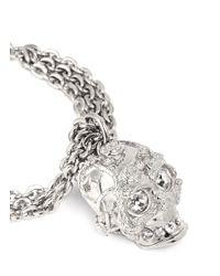 Alexander McQueen | Metallic Crystal Forest Rose Skull Bracelet | Lyst