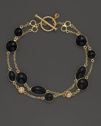 Roberto Coin - 18k Yellow Gold Confetti 2-row Bracelet With Diamonds And Black Enamel, .05 Ct. T.w. - Lyst