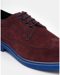 Ted Baker - Red Juppita Suede Brogues for Men - Lyst