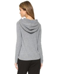Theory | Gray Ettalo Cashmere Hoodie | Lyst