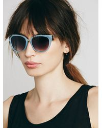 Free People - Blue Womens Coast To Coast Cateye - Lyst