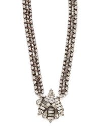 DANNIJO - Metallic Talford Necklace - Crystal - Lyst