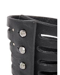 Rick Owens Black Half Megga Naked Leather Cuff