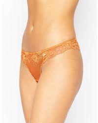 ASOS - Orange Remi Lace Mix & Match Thong - Lyst