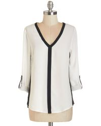Sunny Girl Pty Lltd - White Awe-inspiring Assistant Top In Monochrome - Lyst