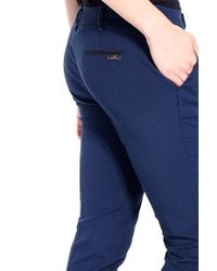 Liu Jo | Blue 'wasabi' Long Trousers | Lyst