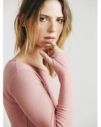 Free People - Pink Sweet Dream Layering Top - Lyst