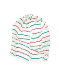 Michael Stars | Multicolor Bright Stripe Scarf | Lyst