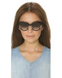Marc By Marc Jacobs - Black Cat Eye Sunglasses - Pink Transparent/green Photo - Lyst