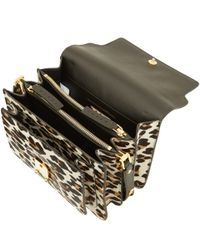 Marni Brown Leopard Print Ponyskin Bag