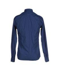 Aglini - Blue Shirt for Men - Lyst