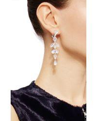 Nina Runsdorf | Metallic Diamond And Moonstone Earrings | Lyst