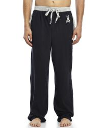 Psycho Bunny - Gray Embroidered Logo Drawstring Lounge Pants for Men - Lyst