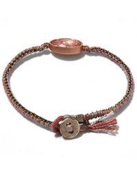 Brooke Gregson - Rose Gold Orbit Pink Tourmaline Silk Bracelet - Lyst