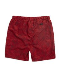 Victorinox   Red Palm Printed Swim Trunks for Men   Lyst