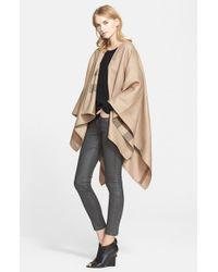 Burberry - Brown Reversible Merino Wool Cape - Lyst