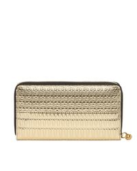 Alexander McQueen - Metallic Grain Calf Continental Zip Wallet - Lyst