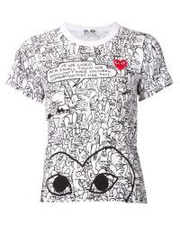 Comme des Garçons   Black Cartoon T-shirt   Lyst