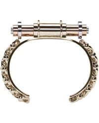Givenchy - Metallic Brass Obsedia Bar Cuff - Lyst