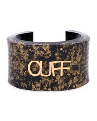MM6 by Maison Martin Margiela - Brown Letter Appliqué Cuff - Lyst