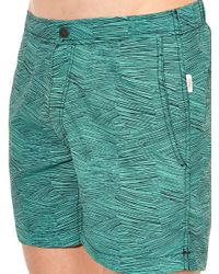 "Onia - Blue The Calder 5"" Pencil-Print Swim Shorts for Men - Lyst"