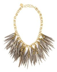 Ashley Pittman | Metallic Grey Quill-Bead Necklace | Lyst