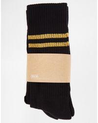 ASOS - Black 2 Pack Sports Style Socks With Glitter Stripes for Men - Lyst