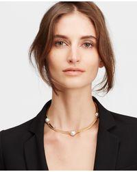 Ann Taylor - Metallic Pearlized Collar - Lyst