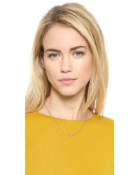 kate spade new york | Metallic Kiss A Prince Infinity Necklace - Gold | Lyst