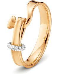 Georg Jensen | Metallic Torun 18ct Rose-gold And Diamond Ring | Lyst