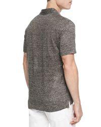 Vince - Black Linen-knit Polo for Men - Lyst