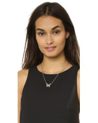 Kate Spade | Metallic All A Flutter Mini Pendant Necklace  | Lyst