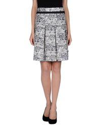 Paule Ka | Natural Knee Length Skirt | Lyst