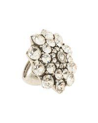 Oscar de la Renta - Metallic Crystal Ring - Lyst