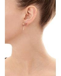 Sarah Ho - Sho - Metallic Bow Earrings - Lyst