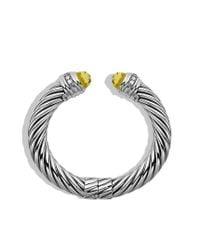 David Yurman | Yellow Cable Classics Bracelet with Lemon Citrine and Diamonds | Lyst
