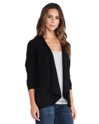 Autumn Cashmere - Black Drape With Pocket Sweater - Lyst