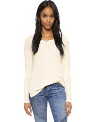 Sundry | White Long Sleeve Raglan Sweatshirt - Black | Lyst