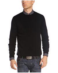 BOSS Orange | Black 'albinon' Sweater In Cotton Blend for Men | Lyst