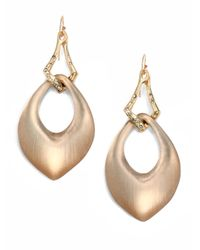 Alexis Bittar | Metallic Vert D'Eau Lucite & Crystal Interlocked Teardrop Earrings | Lyst