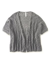 Aéropostale | Gray Marled Open-knit Kimono Cardigan | Lyst