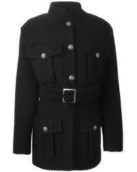 Pas Du Tout - Black Belted Safari Jacket for Men - Lyst