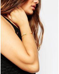 Asos Curve | Metallic Open Arrow Semi Precious Cuff Bracelet | Lyst