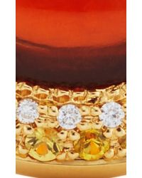 Abellan New York | Metallic Diamond, Yellow Sapphire And Citrine Ring | Lyst