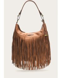 Frye | Brown Heidi Fringe Hobo | Lyst