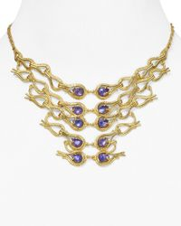 Alexis Bittar - Metallic Articulating Aigrette Bib Necklace 14 - Lyst
