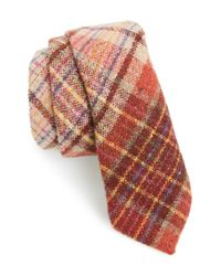Alexander Olch | Red Plaid Wool Tie for Men | Lyst